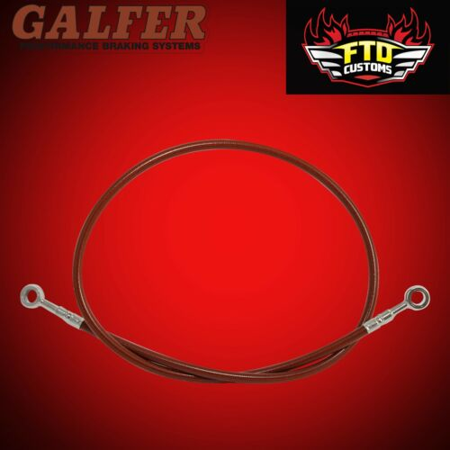 "Galfer Red 36/"" Extended Rear Brake Line for Swingarm Extensions"
