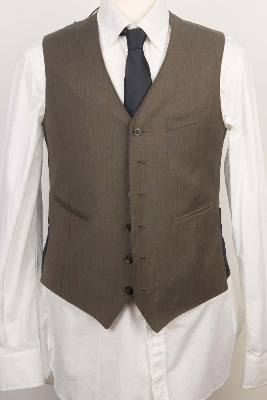 Boglioli Milano NWT 695 Dark Grün 'Dove' 100% Virgin Wool Vest 48 IT 38 US S