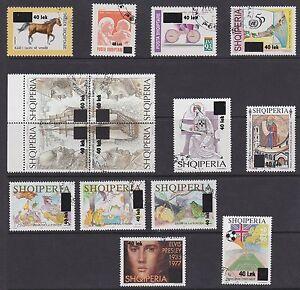 Albanien-Jahrgang-2006-komplett-gestempelt-Nr-3102-16-Albania-year-set-cpl