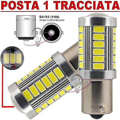 COPPIA LAMPADE LED DIURNE POSIZIONI BA15S S25 1156 P21W HID 33SMD Stop Freni Retro Marcia