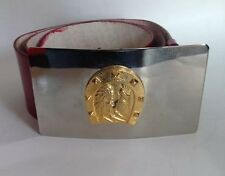 Indian/ Horse Shoe Buckle Madeira RED leather Belt