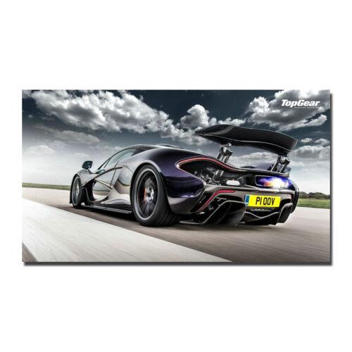 Mclaren P1 Poster Art Silk Fabric Super Car Wall Poster 13x24 24x43 inch J880