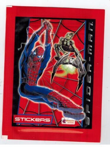 MARVEL SPIDER-MAN UNOPENED STICKER PACK FROM BOX TOPPS MERLIN MOVIE