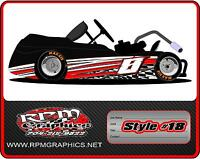 Racing Go Kart Wrap With Front And Rear Numbers, Graphics, Decals, Wraps