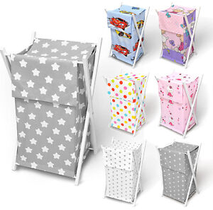 Baby Laundry Basket Nursery Hamper Bag Storage Bin