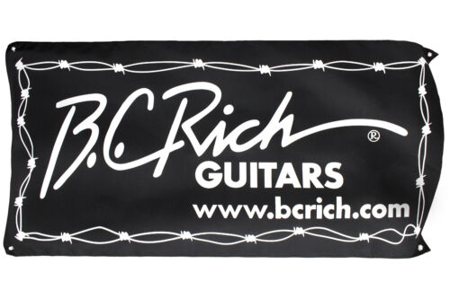 """Rich Banner 24/""""x47/"""" Black and White with Barbed Wire Graphic B.C"""