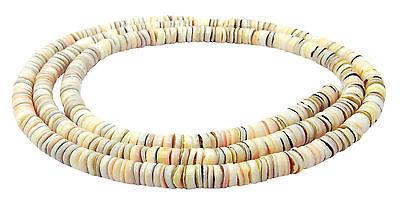 Netzreusenschnecke ~7-10 mm Gehäuse Perlen XL-Strang Muschelperlen MUAS-1