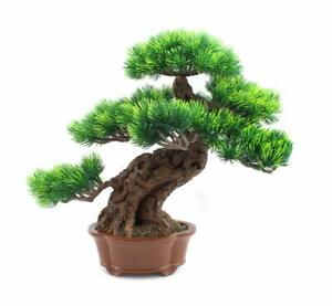 Japanese Pine Bonsai Tree Fake Potted Plants House Plants For Bathroom Home 757446764644 Ebay