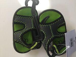 OP-Kids-2-Sandals-Green-black-gray-New