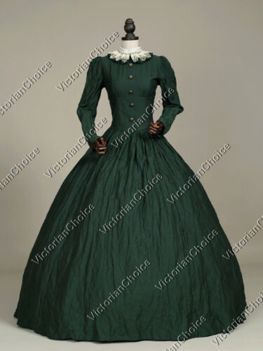 Victorian Style Hats, Bonnets, Caps, Patterns    Victorian Civil War Gothic Period Dress Gown Reenactment Theather Clothing 316 $149.00 AT vintagedancer.com