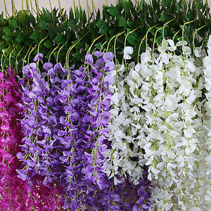Artificial fake wisteria silk flower home party hall wedding floral image is loading artificial fake wisteria silk flower home party hall mightylinksfo