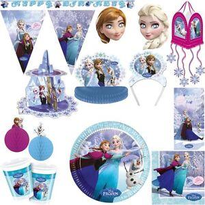 Disney Die Eiskonigin Partyset Kindergeburtstag Deko Anna Elsa