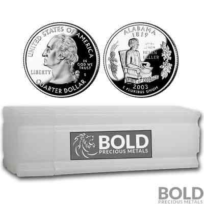 2003-S Silver Proof State Quarter Roll (40 Coins) - ALABAMA