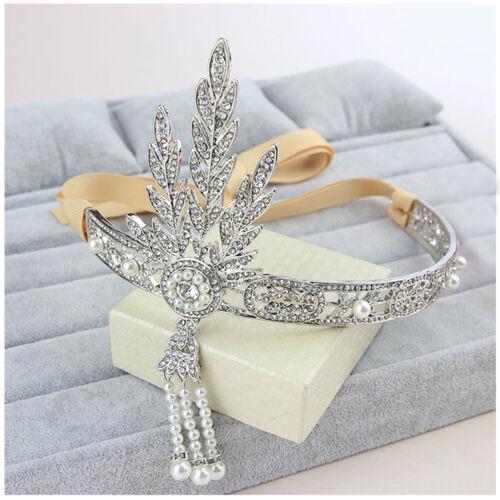 Great Gatsby Vintage Bracelet /& Headpiece Bridal Pearls Headband Jewelry Sets