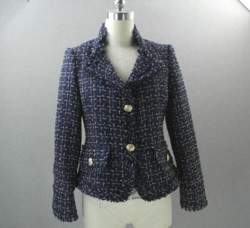 Giacca donna Giacca al 2 ispirata tweed colletto 2018 cappotto con da in Blazer risvolto colori vEpd4xq