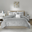 Intelligent-Design-Raina-Comforter-Set-Twin-Twin-XL-Size-Grey-Silver-4-Bed miniature 1
