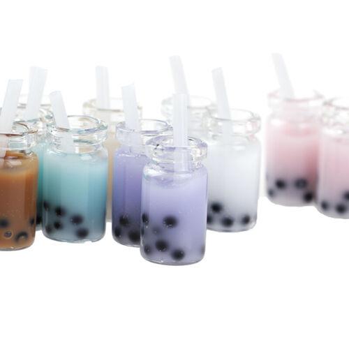 2Pcs 1//12 Dollhouse Miniature Accessories Simulation Pearl milk tea Model Drink