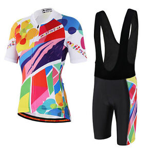 4ab4a17a1 Colorful Women s Cycling Set Bicycle Jersey and (Bib) Shorts Bike ...