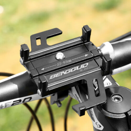 ALUMINUM BLACK BIKE PHONE HOLDER UNIVERSAL BICYCLE HANDLEBAR MOUNT BRACKET