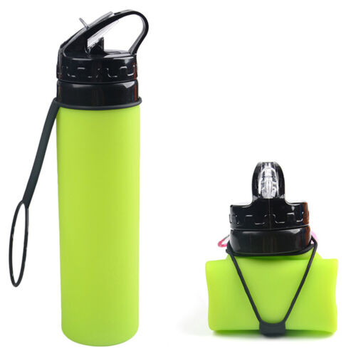 Collapsible Large Capacity Hiking Riding Silicone Cup Water Bag Bottle Sports
