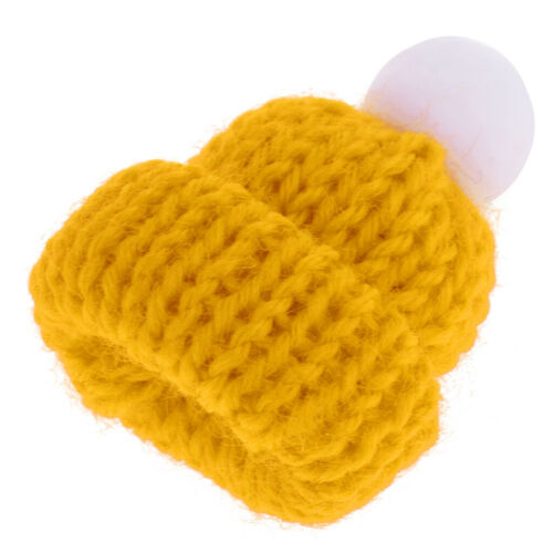 1:12 Yellow Knitted Beanie Hat Cap Dolls House Miniature Clothing Accessory