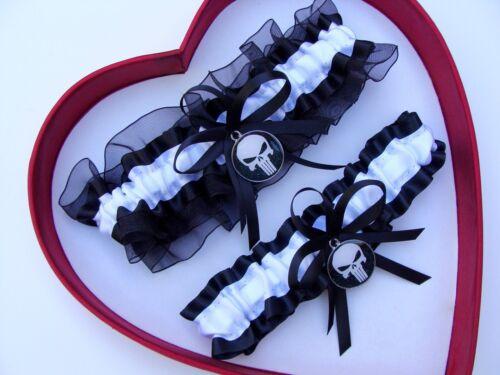 New Handmade Punisher Bridal Wedding Garter Superhero Wedding