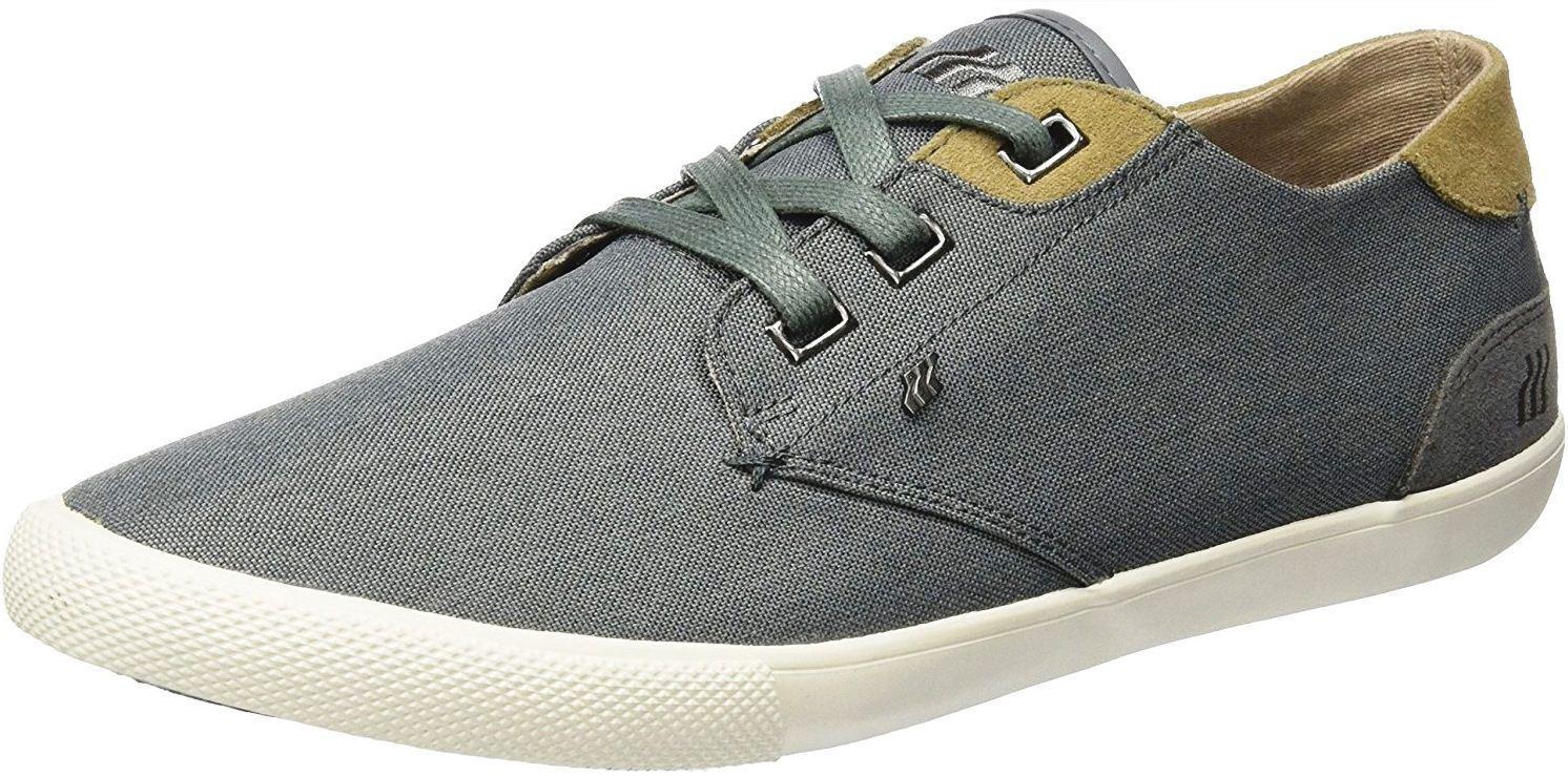Boxfresh Stern SH Grey Tan Nylon Mens Trainers Shoes
