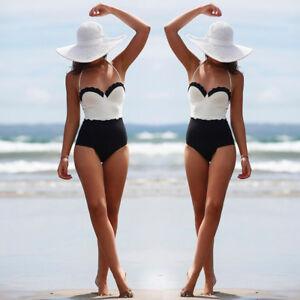 Donne-Costume-Intero-Costume-Da-Bagno-Monokini-Push-Up-Imbottito-Bikini-S-M-L-XL