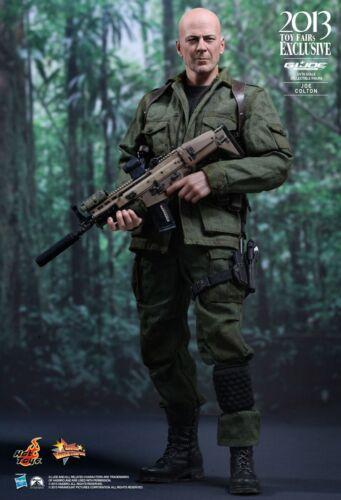 "Sideshow Hot Toys GI Joe 12/"" 1//6 Joe Colton Bruce Willis Retaliation Figure"