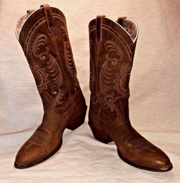 d94b00a1e63 Ariat Magnolia Sunflower Stitch Women's Cowgirl Boots - Medium Toe Size 7.5B