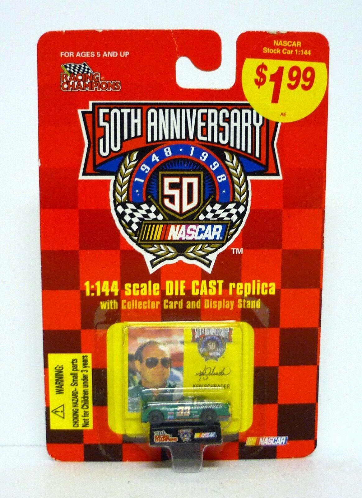RACING CHAMPIONS KEN SCHRADER th Anniversary Diecast Car MOC COMPLETE 1998