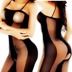a8895a490c5 BodyStocking Bodysuit Women Sexy Lingerie Nightwear Stocking Thigh ...