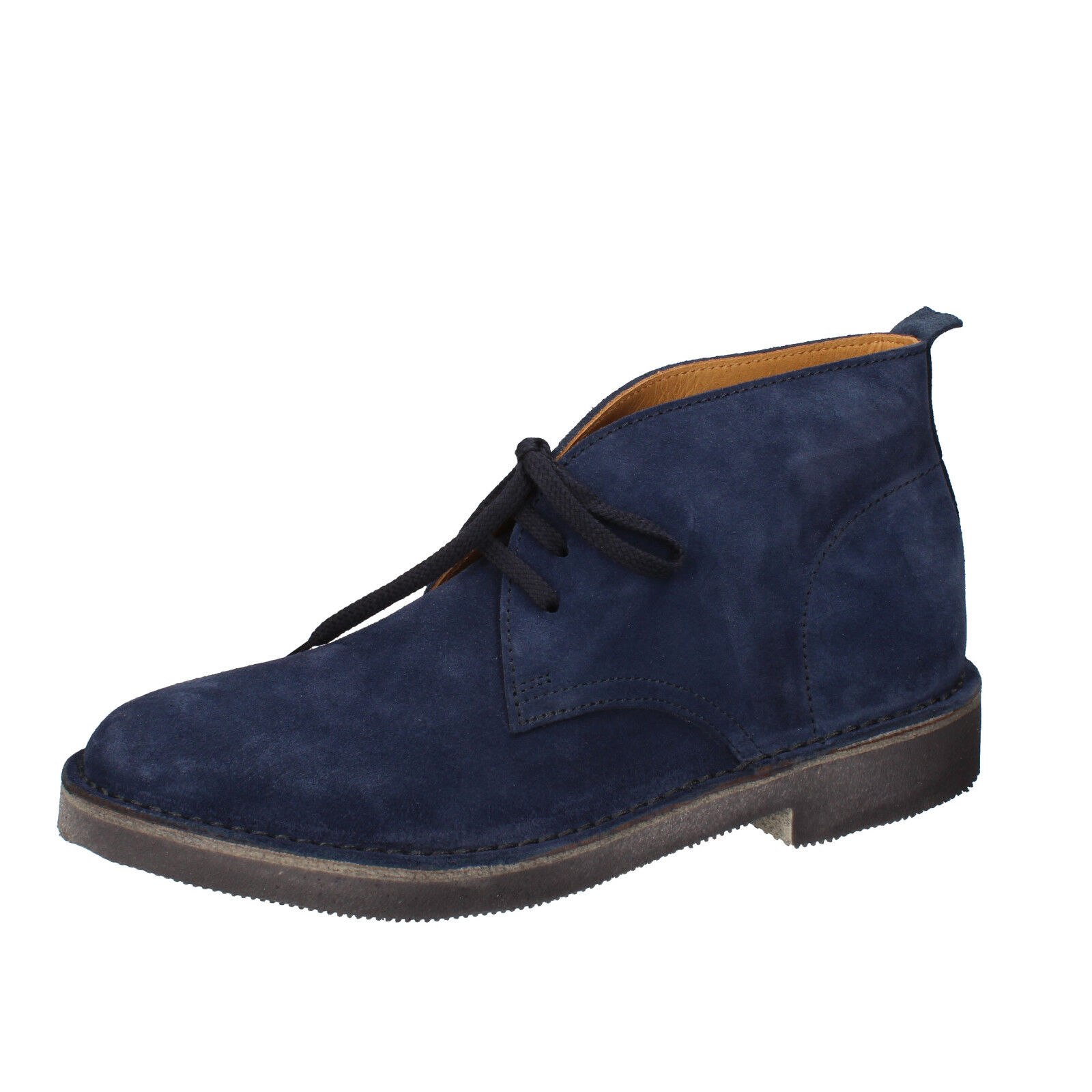 Men's shoes MOMA 9 () desert boots bluee suede AB327-C
