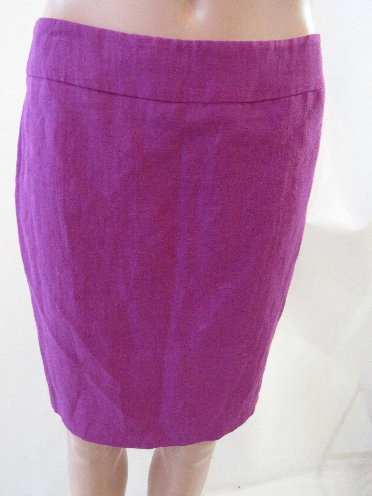 Armani Purple Silk Blend Straight Skirt Size 4