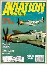 AVIATION HERITAGE JUL 91 WW2 TOMMY MCGUIRE P-38 475TH FG / CREATION OF USAF SAC