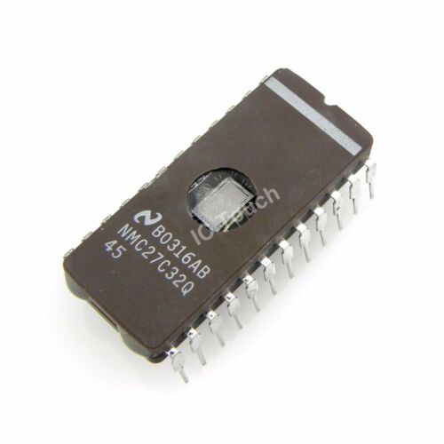 National Semiconductor Ic CDIP NMC27C32Q-45 IC 32,768-Bit 24 1 un 4096 X 8
