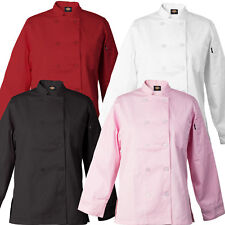 Dickies Bettina Womens Chef Coat Flattering Fit 10 Button Chef Jacket Dc115