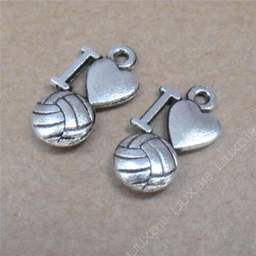 30pc Charms Heart Volleyball Pendant Dangle Accessories DIY Jewelry Making 706H