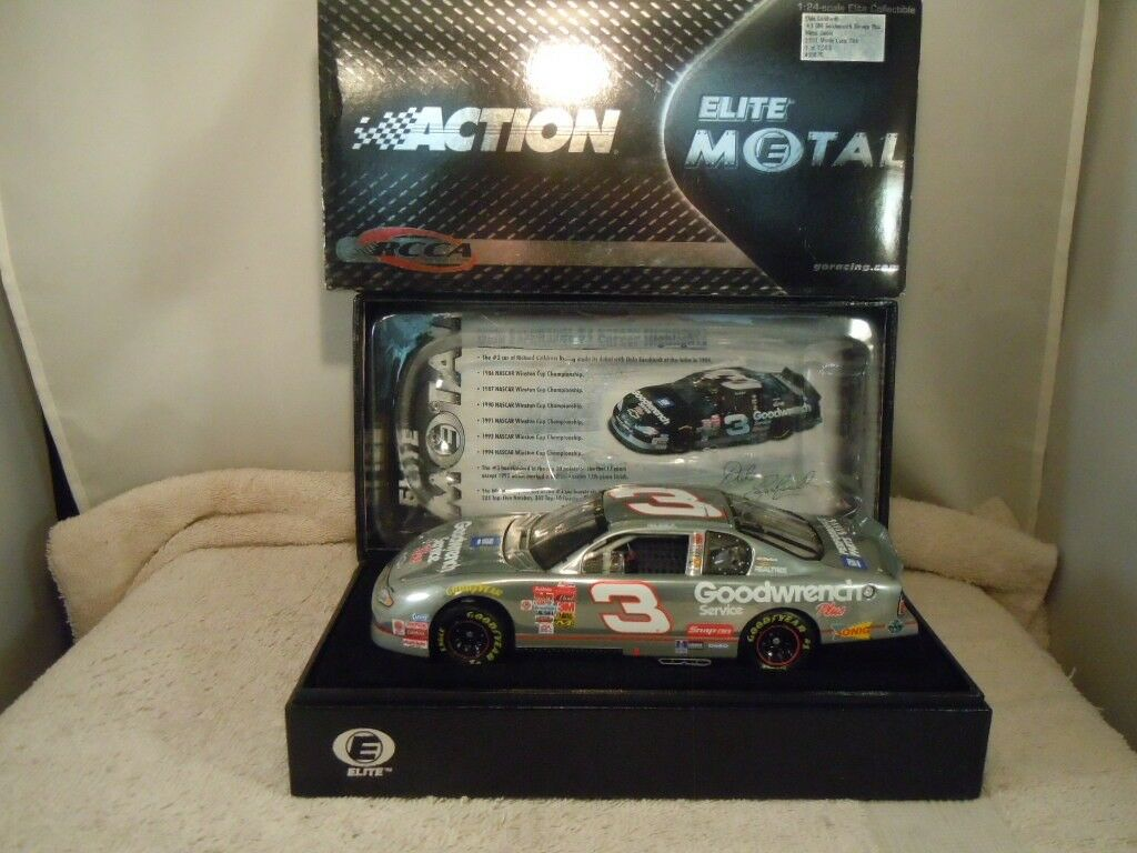 2001 ACTION  3 DALE EARNHARDT GM GOODWRENCH METAL SERIES 1 24 DIECAST CAR W  BOX