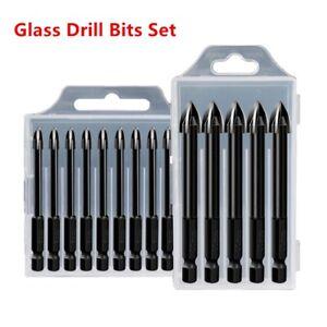 6mm Extended Carbide Cross Spear Head Hex Shank Ceramic Tile Glass Drill Bit B