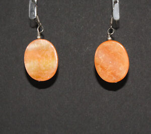 Native-American-Coral-Oval-Earrings-by-Charmayne-Nelson-Navajo