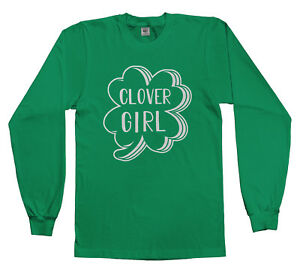ebe153699 Details about Clover Girl Irish Pride Youth Long Sleeve T-Shirt St Patricks  Day