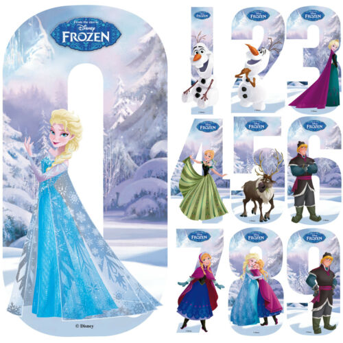 Disney Frozen Number Stickers Wall Wheely Wheelie Bin Elsa Decal Learning Toys