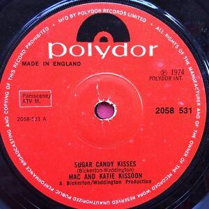 Mac-And-Katie-Kissoon-Sugar-Candy-Kisses-Polydor-2058-531-Ex-Condition