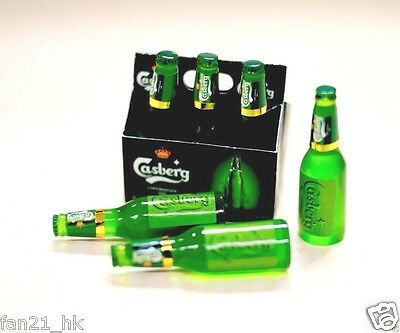 Accessories Miniature wine Dollhouse corona style Beer 6 PCS set re-ment Size