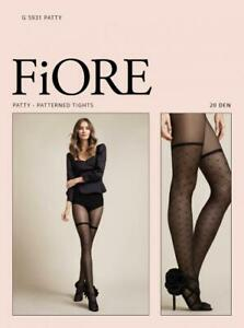 FIORE MUSK GEOMETRIC-FLORAL PATTERN TIGHTS PANTYHOSE GRAPHITE ON GRAY 3 SIZES