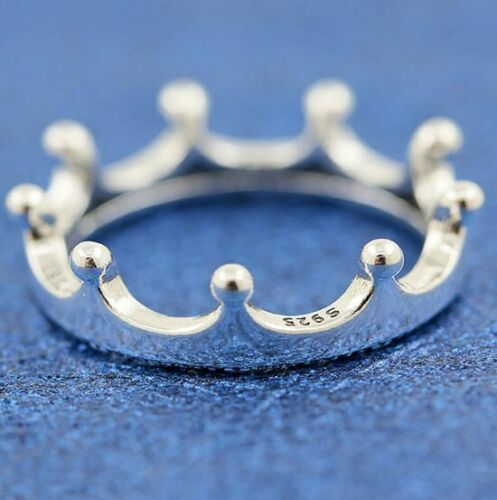 925 Sterling Silver Ring Polished Crown Rings For Women