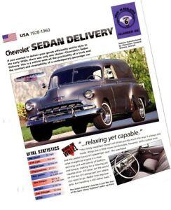 1951/1952/1953.....chevy Sedan Livraison Camion Imp Brochure