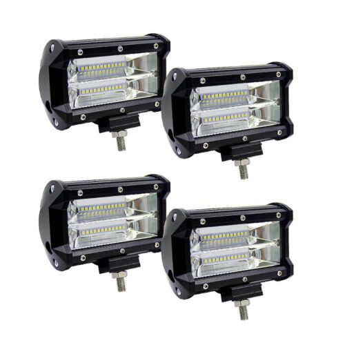 2X 84W LED Work Fog Light 5 Inch Car Truck Jeep SUV Spot Flood Bar Lamps 12V 24V
