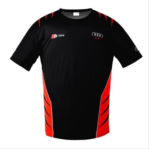 Audi S-Line Gecko Quattro Sport Noir Short Sleeve T-Shirt Cadeau